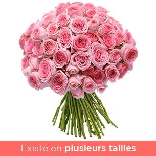 Bouquet de roses Brassée tendres roses Anniversaire