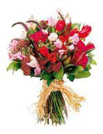 Bouquet de fleurs Mixed Cut Flowers Vibrant reds