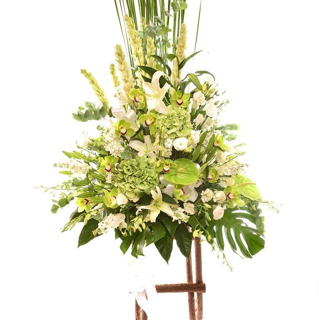Bouquet de fleurs Arrangement of Cut Flowers with Stand