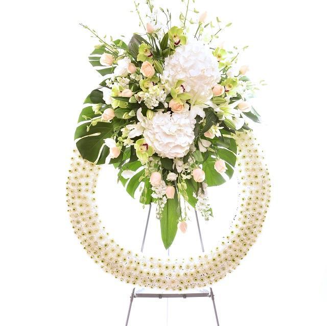Bouquet de fleurs Funeral Wreath with Stand