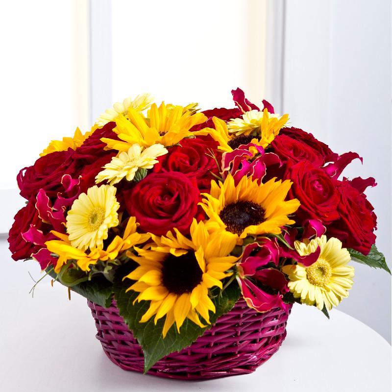 Bouquet de fleurs Arrangement in a basket