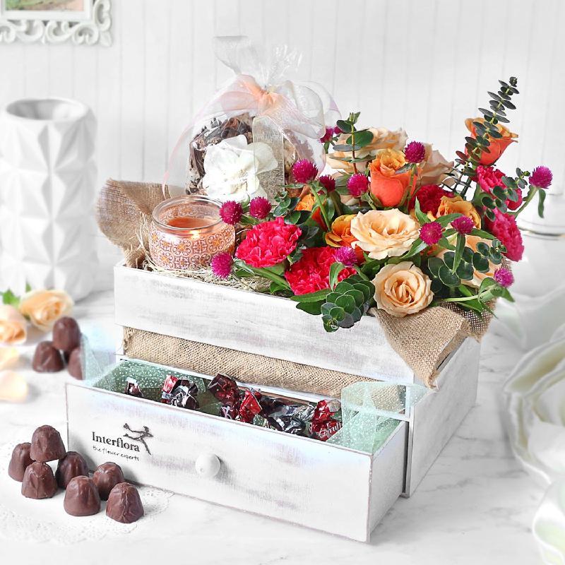 Bouquet de fleurs Vanity Affair Hamper