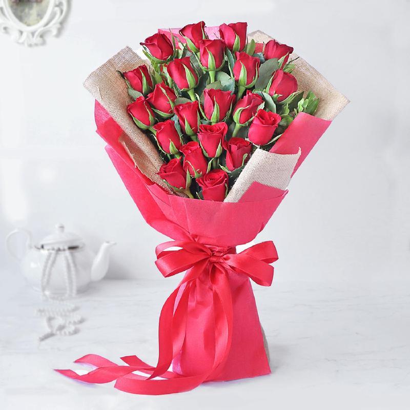 Bouquet de fleurs Majestic Red Rose Bouquet