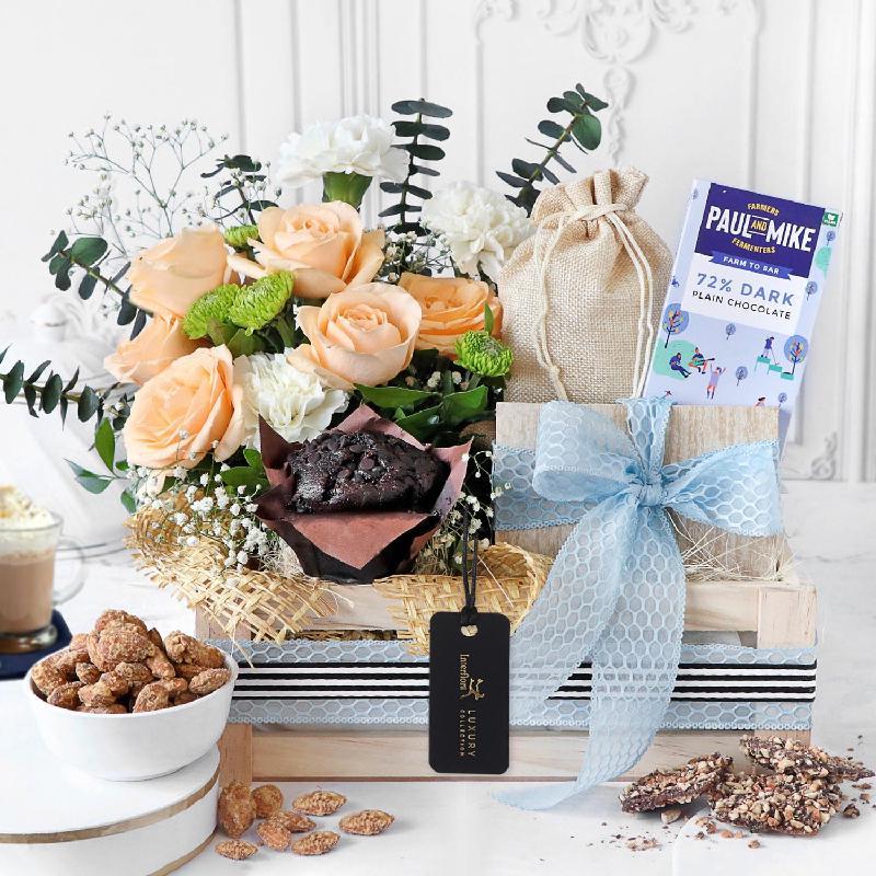 Bouquet de fleurs Nuts about You Gift Hamper
