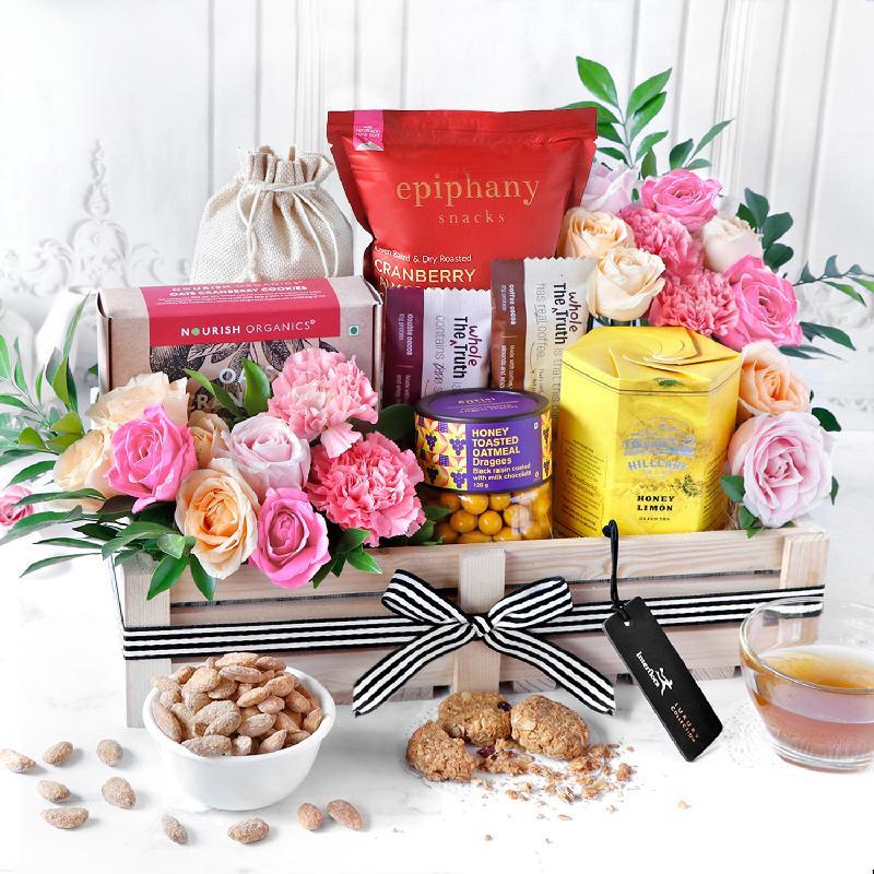 Bouquet de fleurs Healthy Feast Gift Hamper
