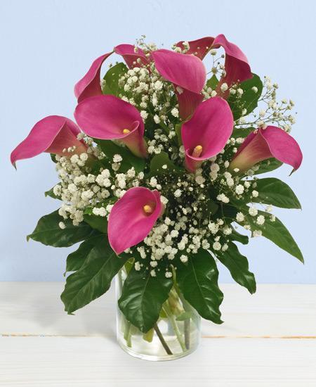 Bouquet de fleurs Calle rosa