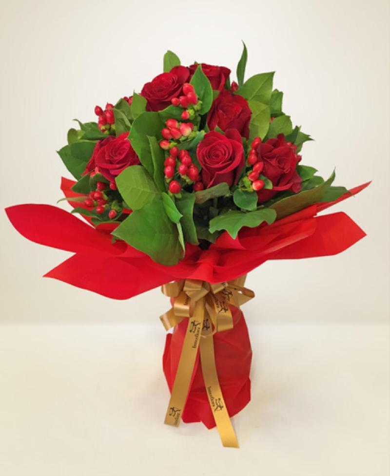 Bouquet de fleurs Rosso passione
