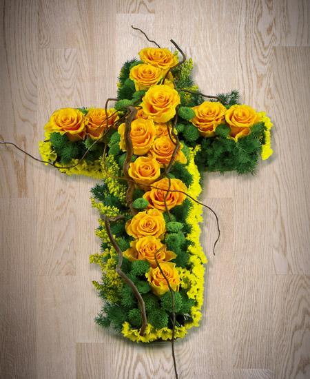 Bouquet de fleurs Croce funebre