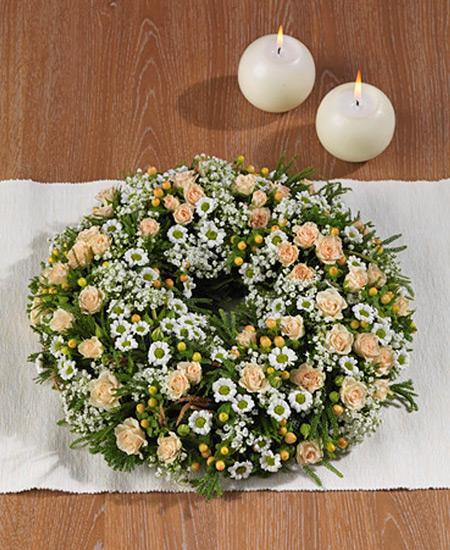 Bouquet de fleurs Coroncina funebre
