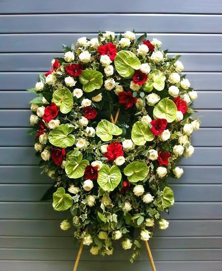 Bouquet de fleurs Corona funebre