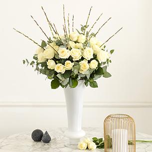 Bouquet de fleurs Pureté Saint-Valentin