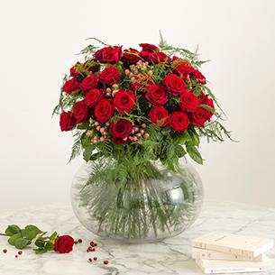 Bouquet de fleurs Passionnément Saint-Valentin