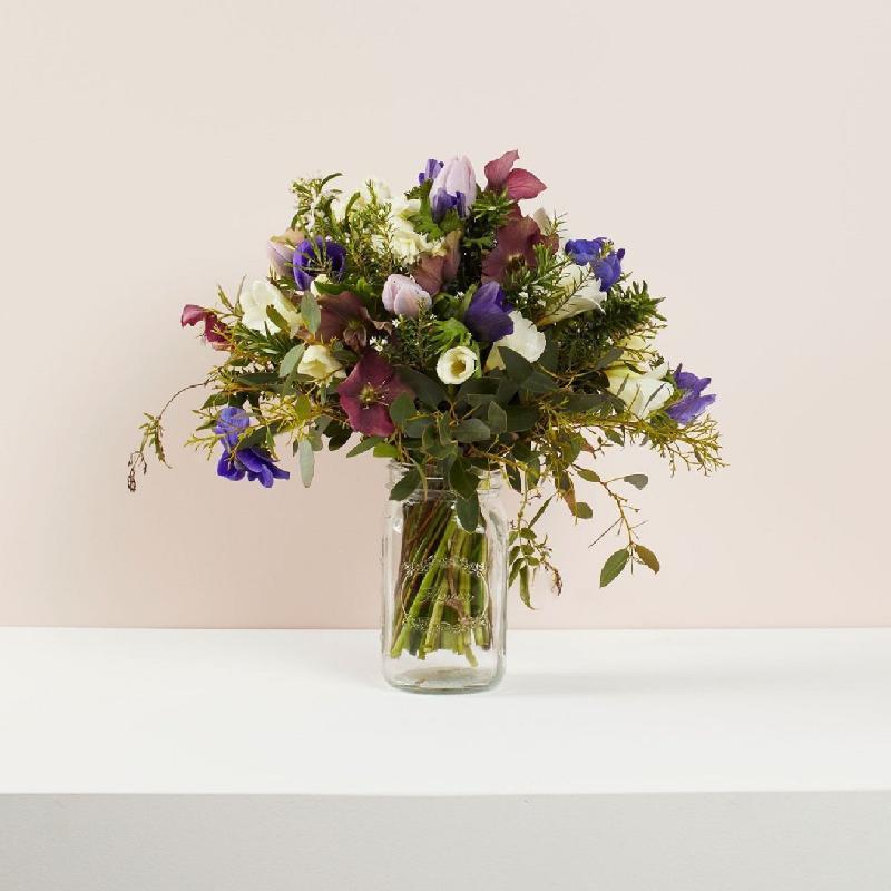 Bouquet de fleurs Vintage Blooms in Mason Jar
