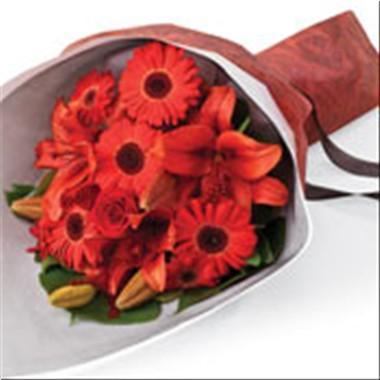 Bouquet de fleurs Red Hot