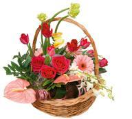 """Bouquet de fleurs Basket Arrangement """"Rendezvous"""""""