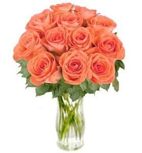 """Bouquet de fleurs Bunch of Orange Roses """"Bliss"""" (without vase)"""