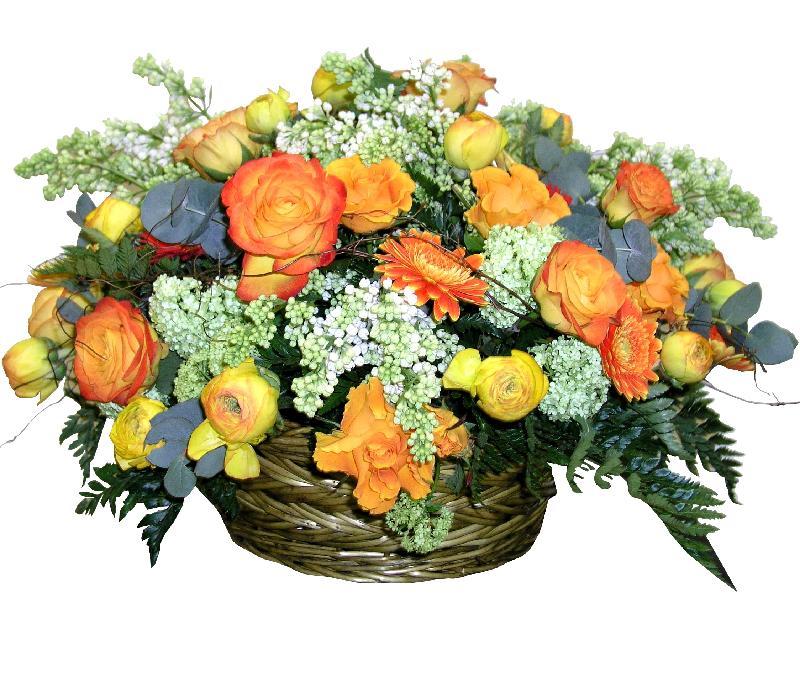 """Bouquet de fleurs Basket Arrangement """"Autumn Etude"""""""