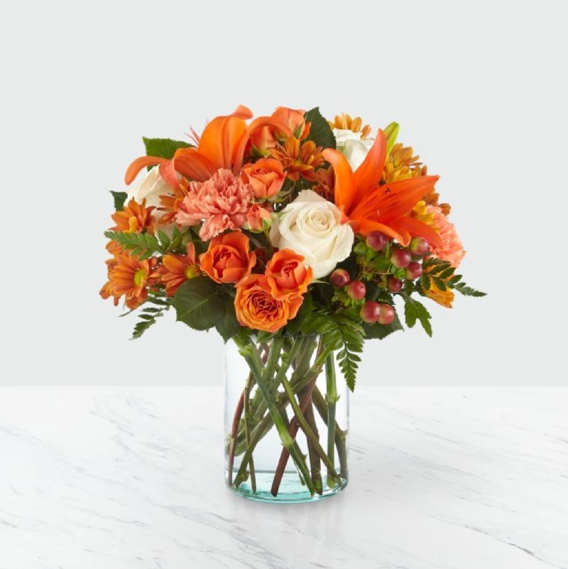 Bouquet de fleurs Orange Mood