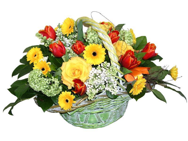 "Bouquet de fleurs Basket Arrangement ""Midday in July"""