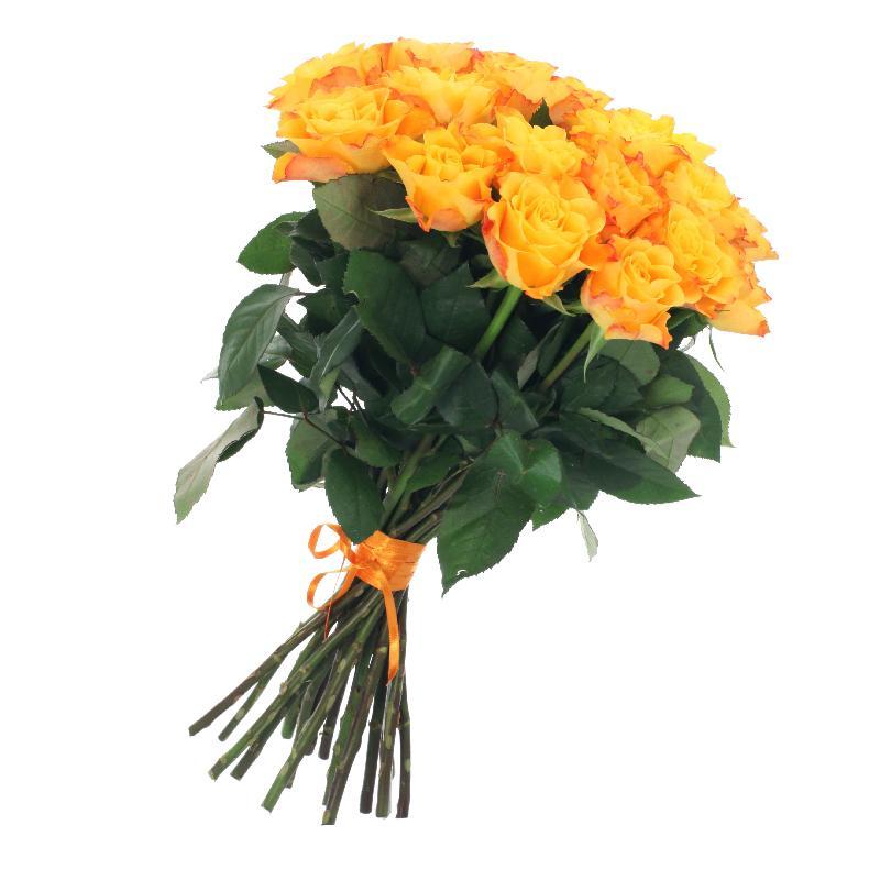 Bouquet de fleurs Bunch of 21 Yellow Roses Gold