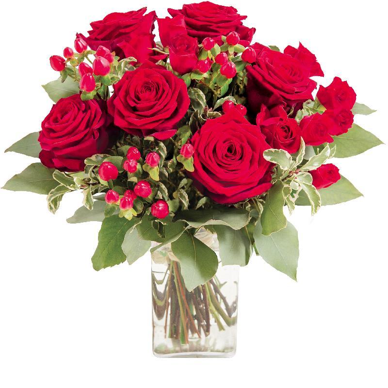 """Bouquet de fleurs Bouquet of red roses """"Evita"""""""