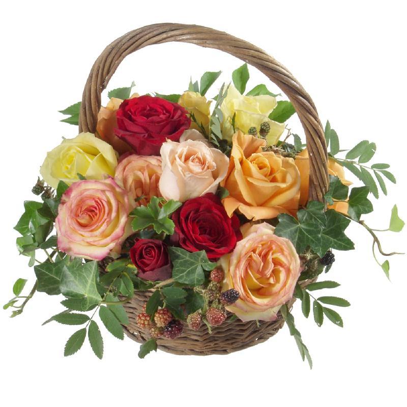 Bouquet de fleurs Sweet Happiness Basket