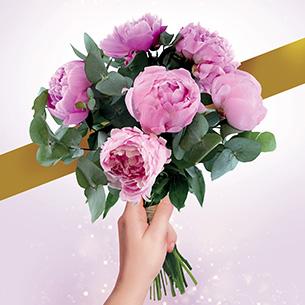 Bouquet de fleurs Nos belles pivoines Remerciements