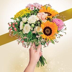 Bouquet de fleurs Soleil d'Août Anniversaire