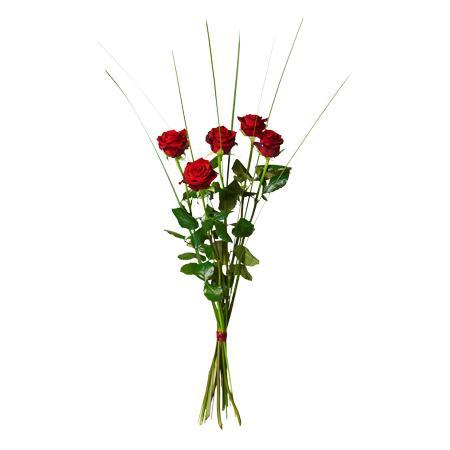 Bouquet de fleurs Bouquet of 5 red roses