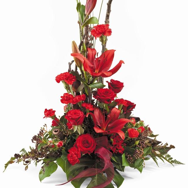 Bouquet de fleurs Traditionally Red