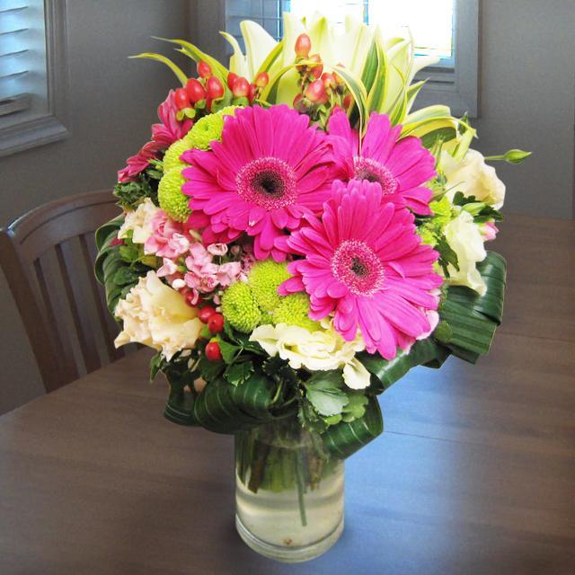 Bouquet de fleurs Arrangement in Vase Pinks