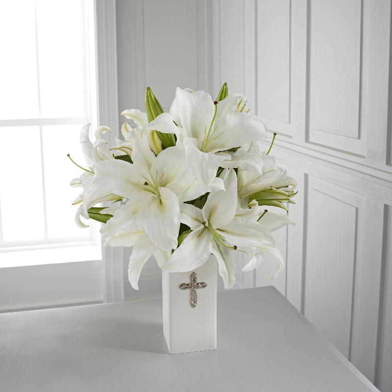 Bouquet de fleurs The FTD Faithful Blessings Bouquet - VASE INCLUDED