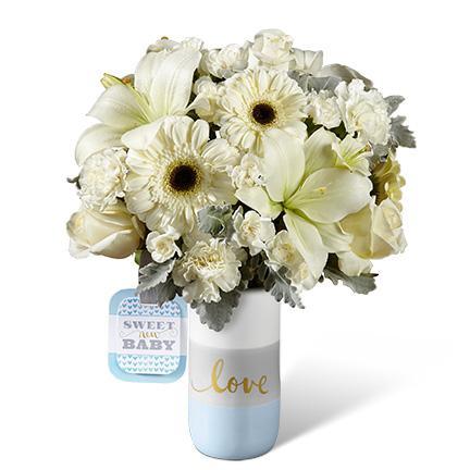 Bouquet de fleurs HMB -  The FTD® Sweet Baby Boy™ Bouquet by Hallmark