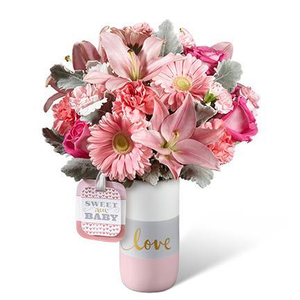 Bouquet de fleurs HMG - The FTD® Sweet Baby Girl™ Bouquet by Hallmark