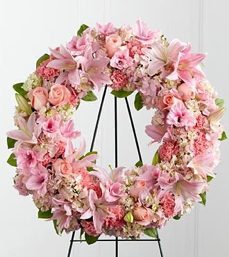 Bouquet de fleurs S21-4484 - The FTD Loving Remembrance Wreath