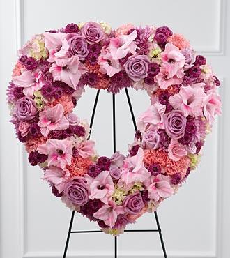 Bouquet de fleurs S28-4501 - The FTD® Eternal Rest™ Standing Heart