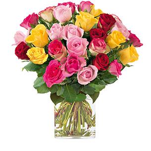 Bouquet de roses Brassée de roses Anniversaire