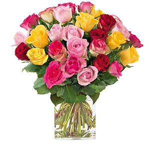 Bouquet de roses Brassée de 30 roses Anniversaire