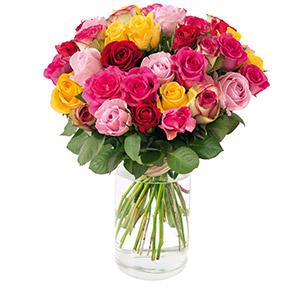 Bouquet de roses Brassée de 40 roses Remerciements