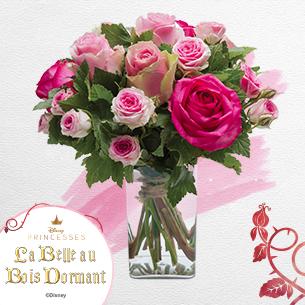 Bouquet de roses Aurore Amour