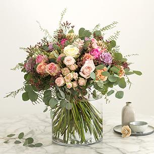 Bouquet de fleurs Charme absolu Saint-Valentin