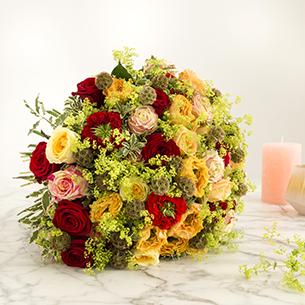 Bouquet de fleurs Sentiments distingués Saint-Valentin