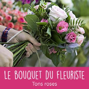 Bouquet de fleurs Bouquet du fleuriste tons roses Remerciements
