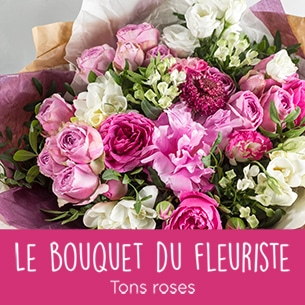 Bouquet de fleurs Bouquet du fleuriste tons roses Amour