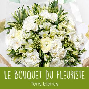 Bouquet de fleurs Bouquet du fleuriste tons blancs Amour