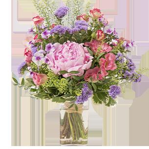 Bouquet de fleurs Maman chérie et son vase offert Fête des Mères