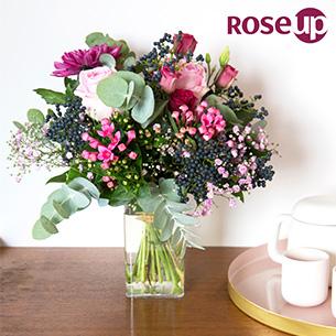 Bouquet de fleurs Rose Magazine