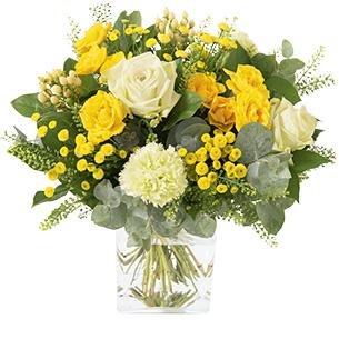 Bouquet de fleurs Sunshine Anniversaire