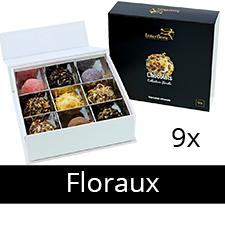 Bouquet de fleurs Chocolats Collection Florale X9