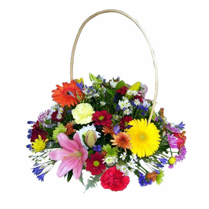 Bouquet de fleurs Batik Basket